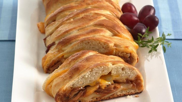 beale street chicken braid: Barbecue chicken, cheese and apple slices ...