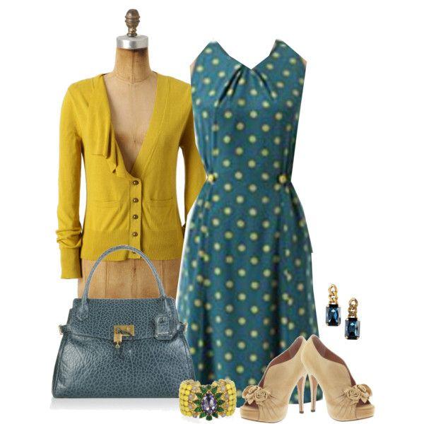Antrhopologie Polka Dot Dress