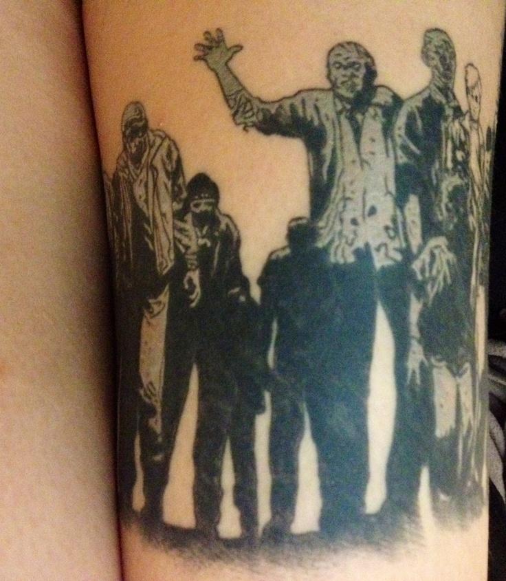 my walking dead tattoo zombies zombie tattoo nerdy tattoo thigh tattoo scapegoat tattoo portland. Black Bedroom Furniture Sets. Home Design Ideas