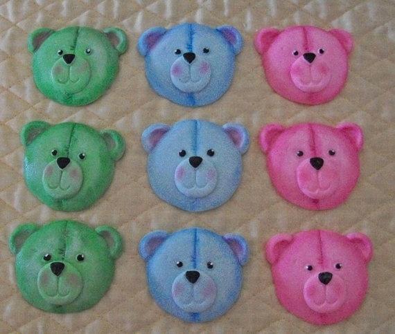 teddy bear fondant cup cakes