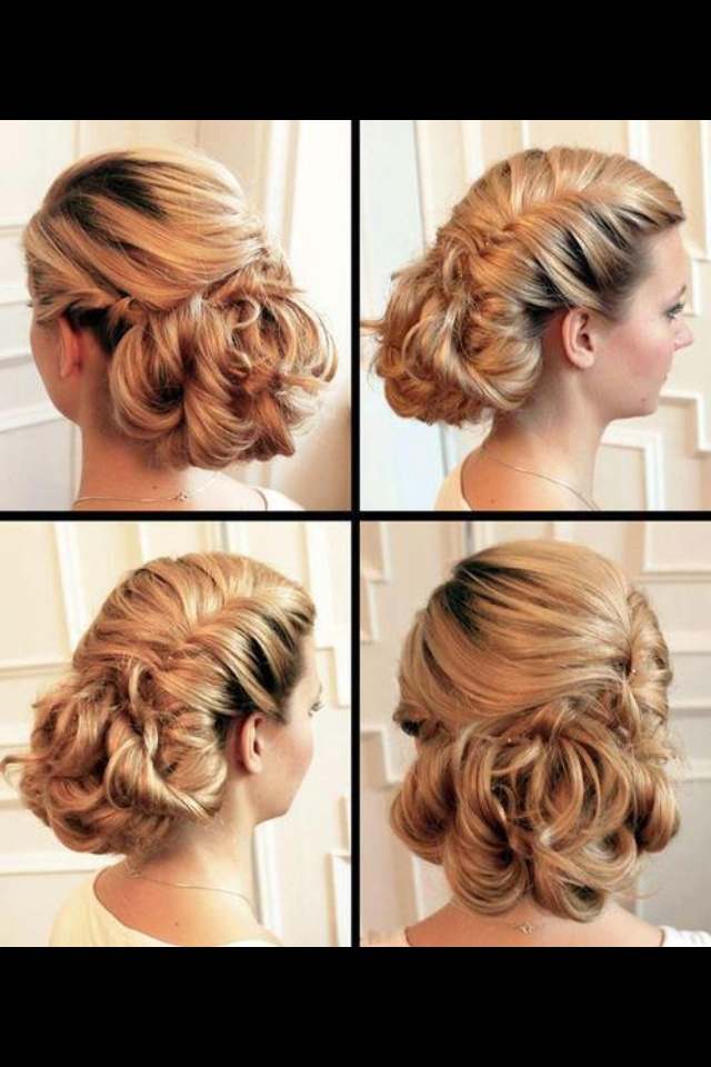 Wedding up-do | Hairstyles for round face, thick hair | Pinterest