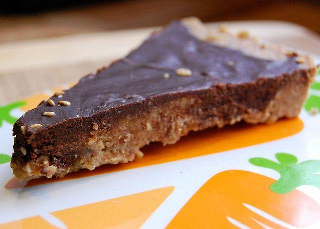 Chocolate-Peanut Butter Fudge-Tart -- No Baking Required (sunflower ...