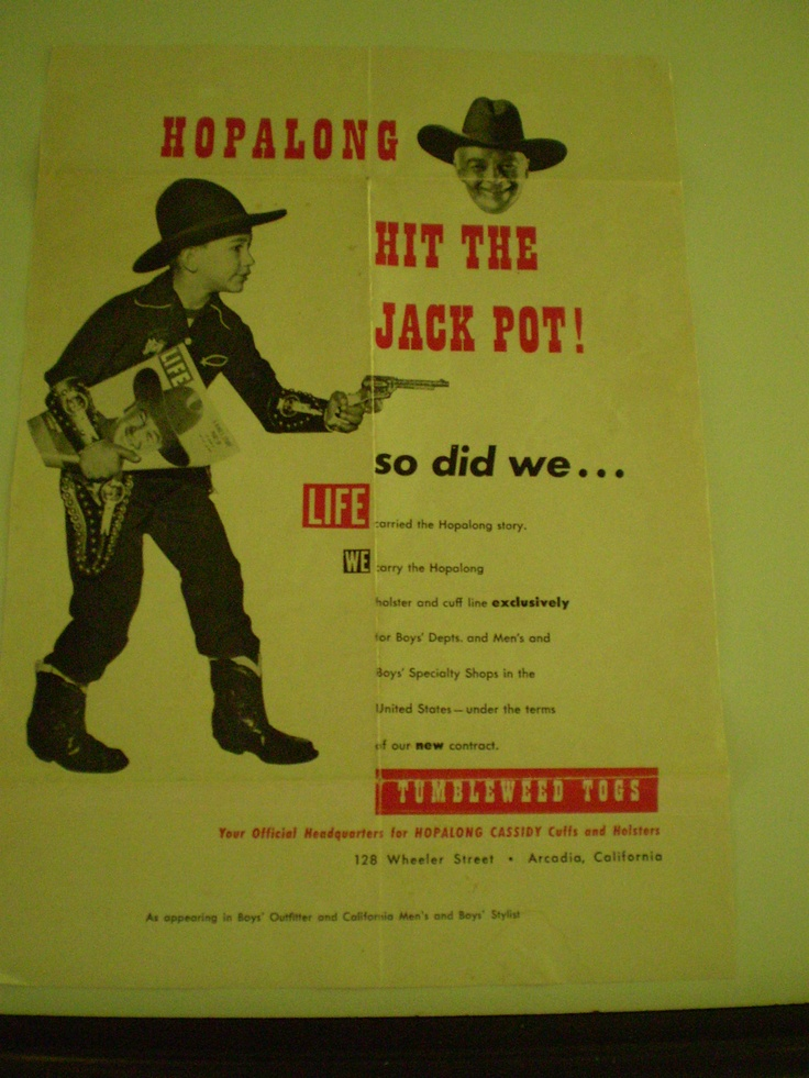 ... Hopalong Cassidy became the first network Western television series