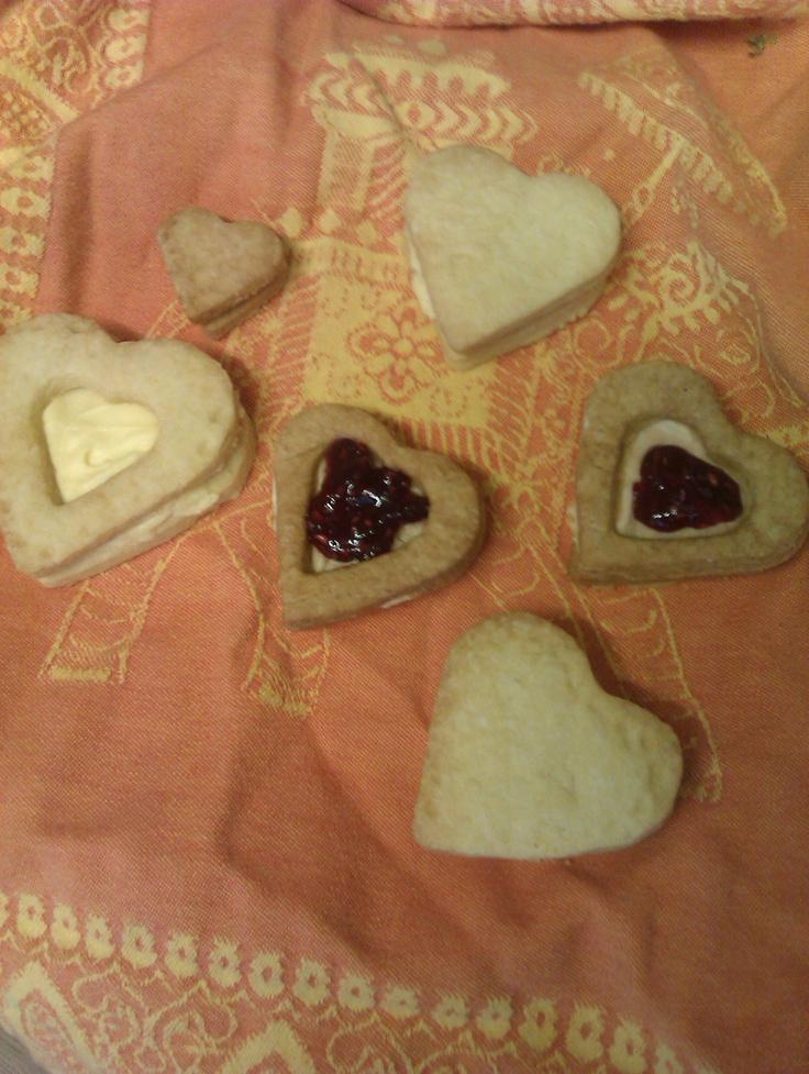valentine's day jam cookies