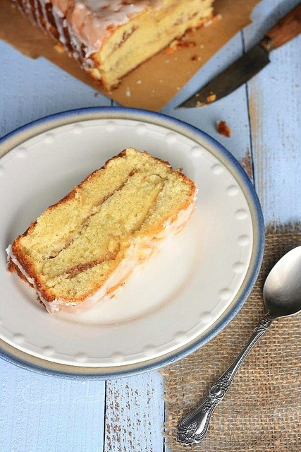 Apple Tea Cake with Lemon Glaze. The blog author notes, This is a nice ...