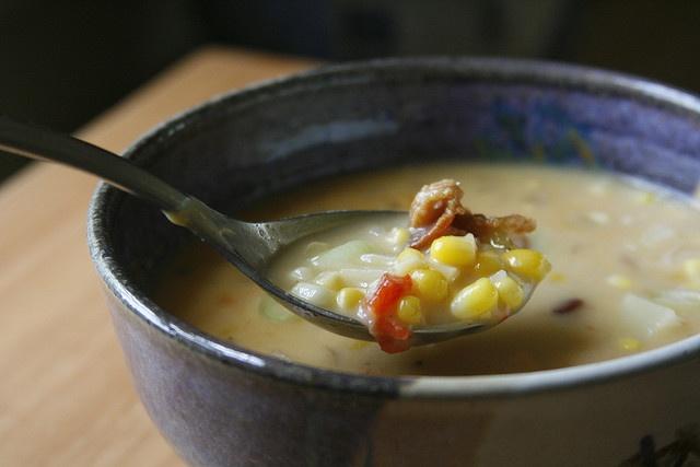 Corn & Potato Chowder | I love my 'taters | Pinterest