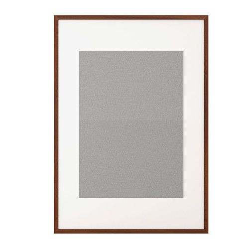 Ribba frame medium brown for Ikea frame sizes australia