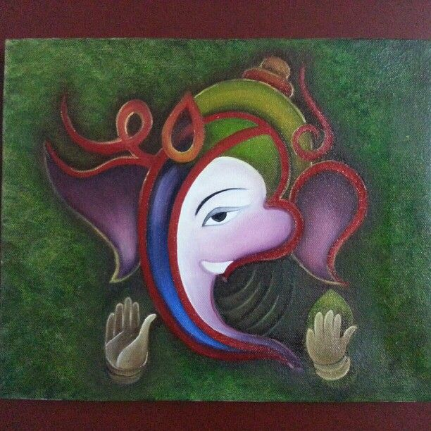 Lord ganesha -modern art | My paintings.... | Pinterest