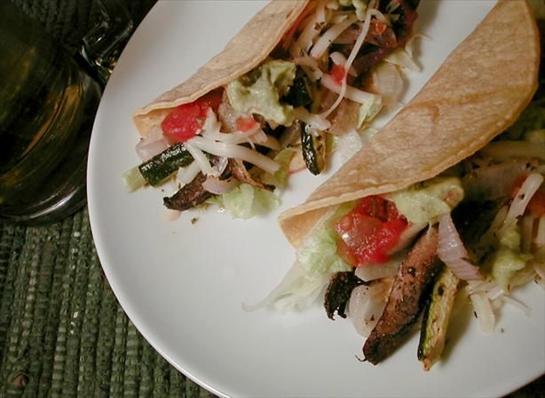 Portabella and Zucchini Tacos from Food.com: Meatiness without the ...