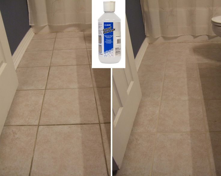 Grout Refresh - pinner said: Got it at Lowe's for about $10.00.  I did this bathroom floor in about 15 minutes!