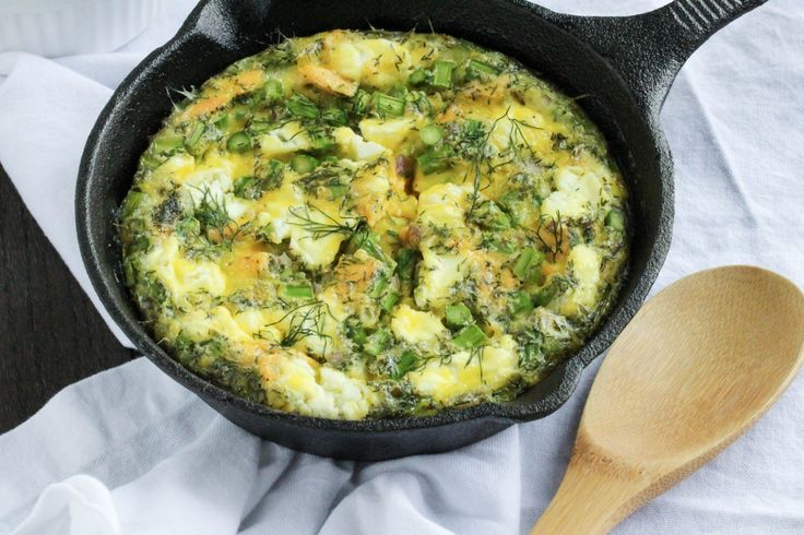 Salmon, Asparagus and Goat Cheese Frittata - Eat it Kansas City