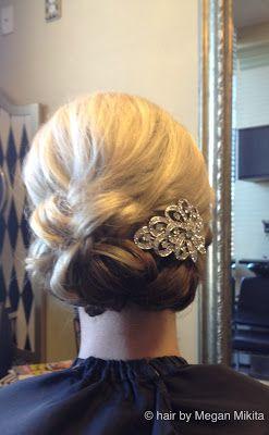 glamorous bridal updo