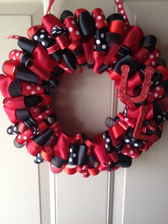 U of L University of Louisville Ribbon Wreath