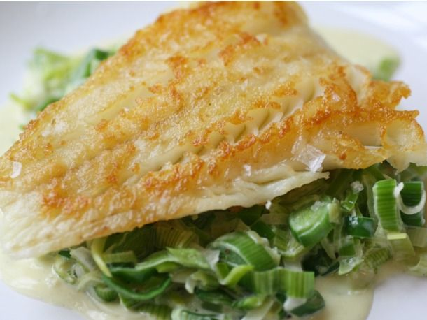 Crispy Cod with Creamed Leeks | The Table | Pinterest