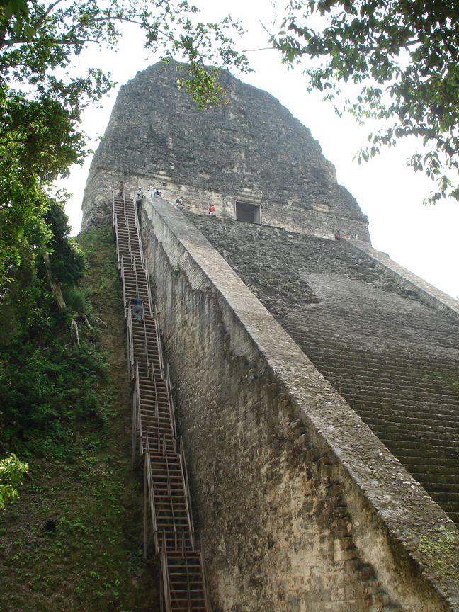 Steps at the Rain God Temple, Tikal