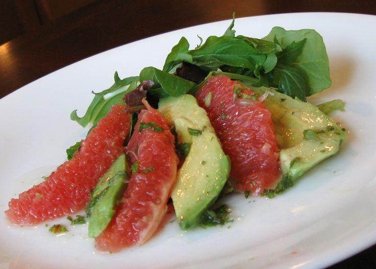 "Grapefruit and Avocado Salad with ""Mojito"" Vinaigrette"