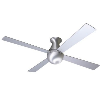 ball hugger ceiling fan with optional light by modern fan company in. Black Bedroom Furniture Sets. Home Design Ideas