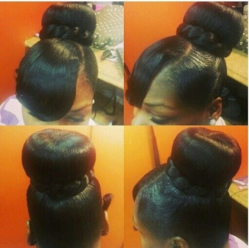 Swooped Bang with Ponytail Hairstyles