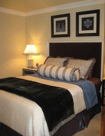brown and blue bedroom | Master Bedroom | Pinterest