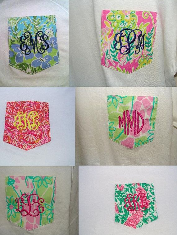 Short Sleeve Lilly Pulitzer Monogrammed Pocket Tee
