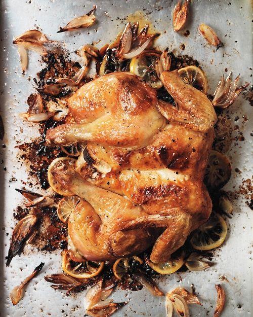 Roast Spatchcocked Lemon Chicken - Martha Stewart Recipes