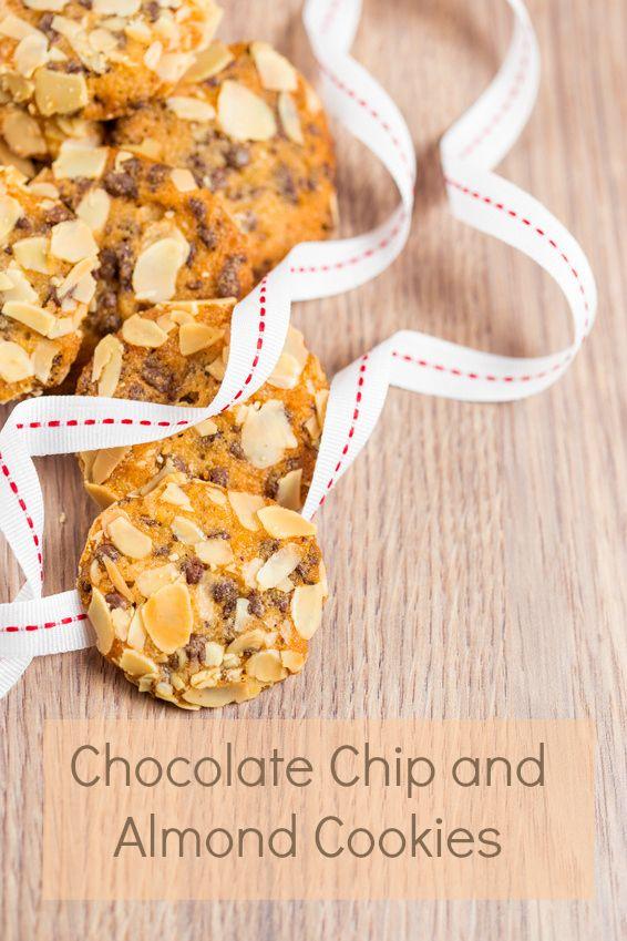 Chocolate Chip Almond Cookies | http://www.recipemash.com/dessert ...