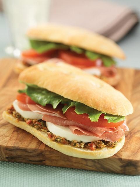 Prosciutto Mozzarella Sandwich | Recipes & Inspiration | Pinterest