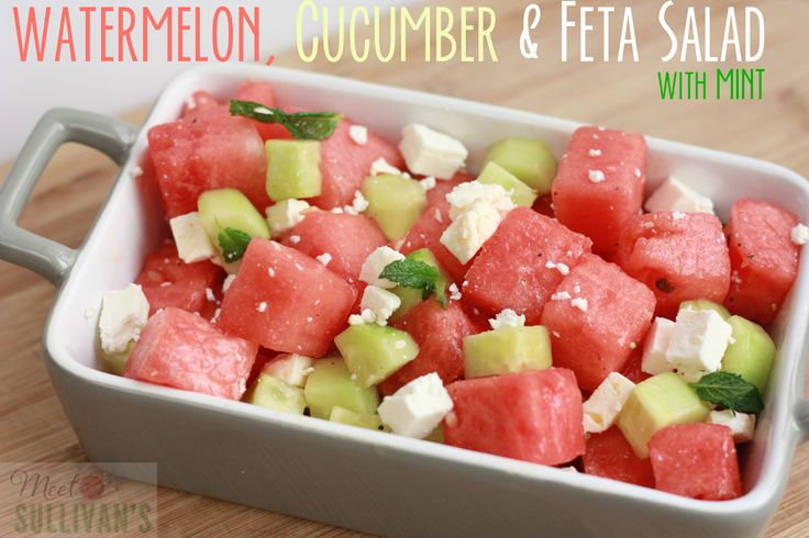 Summer Salad Recipe | Watermelon, Cucumber & Feta Salad with Mint