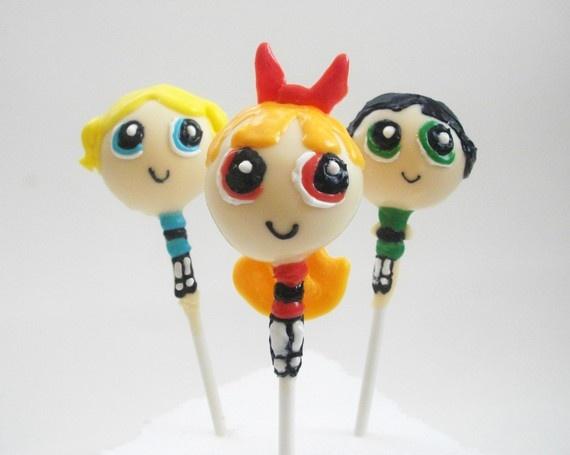 Powerpuff Girl Cake Pops