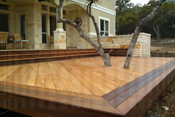 Back deck tier platform  Outdoor living and Pool ideals  Pinterest