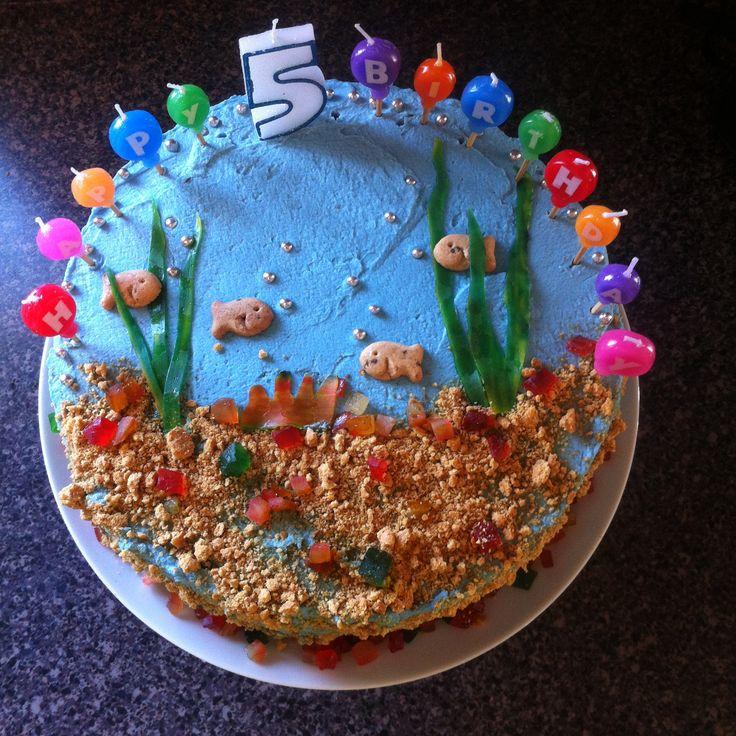 fish-themed birthday cake. Martha Stewart's versatile vanilla cake ...