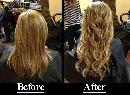 By illusions before amp after extensions done by illusion