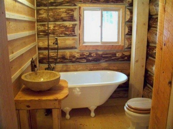Log Cabin Bathroom Remodel Pinterest