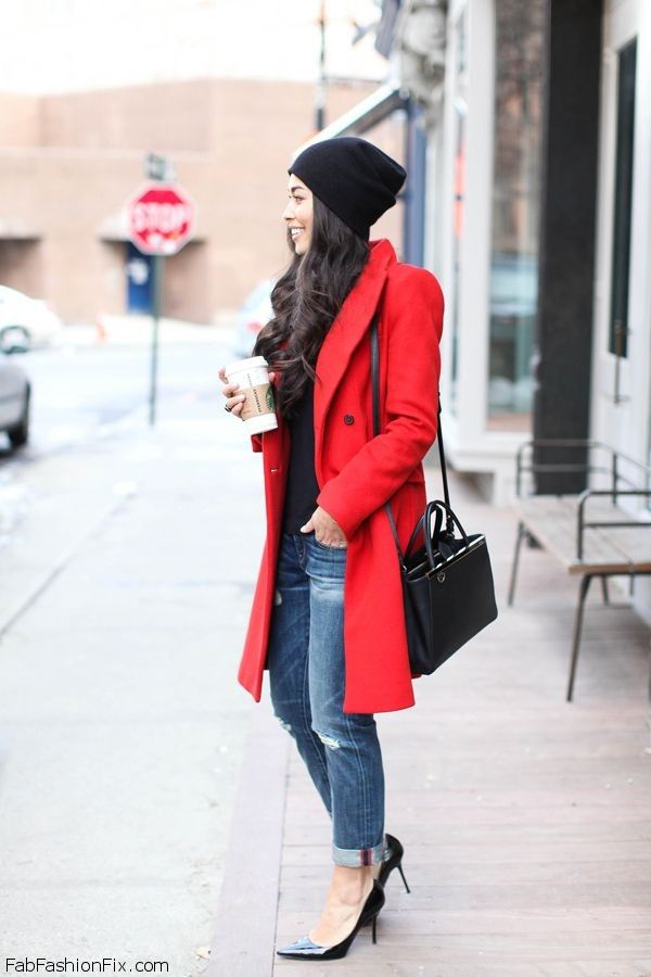 A Month of Fashion Risks: Pairing Bright Red and PalePink