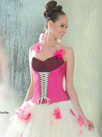 Morelle mariage - Robe de Mariée : Annie Couture - FUSCHIA