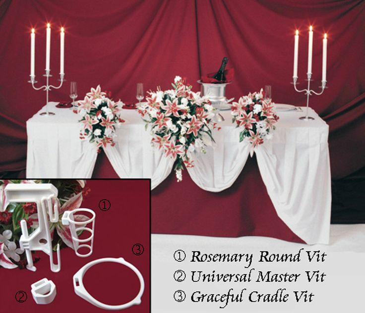 5 Wedding Flowers Bridal Bouquet Holder I Head Table Display Decorati