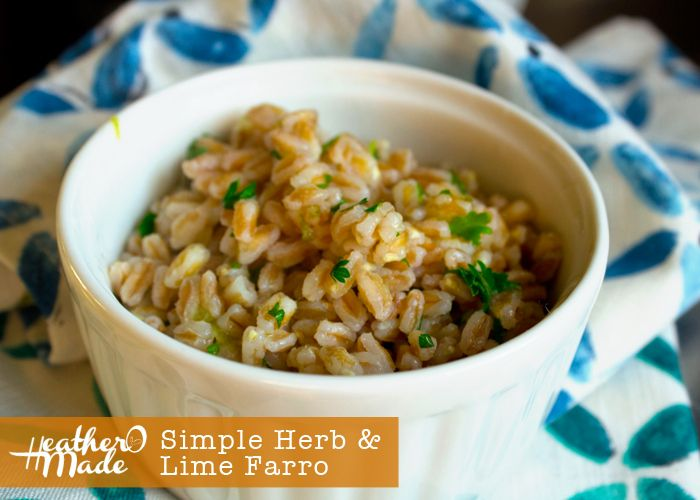 simple herb lime farro recipe. swap out your pasta for farro!