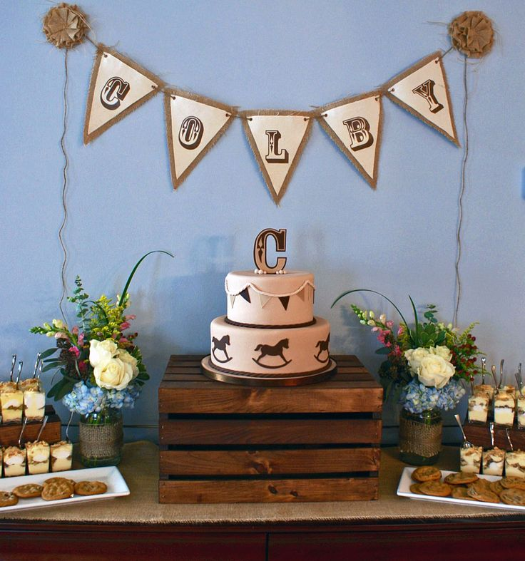 cowboy theme baby shower cake by k noelle cakes