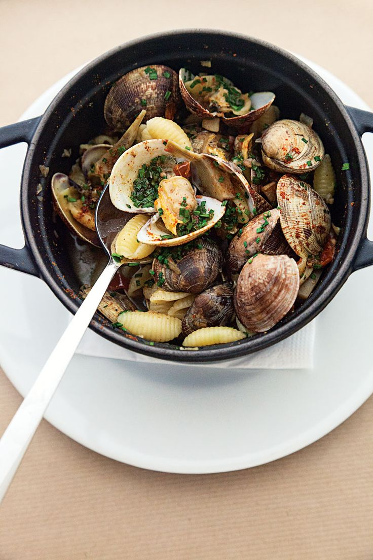 Pasta Shells with Artichoke-Clam Sauce | SAVEUR