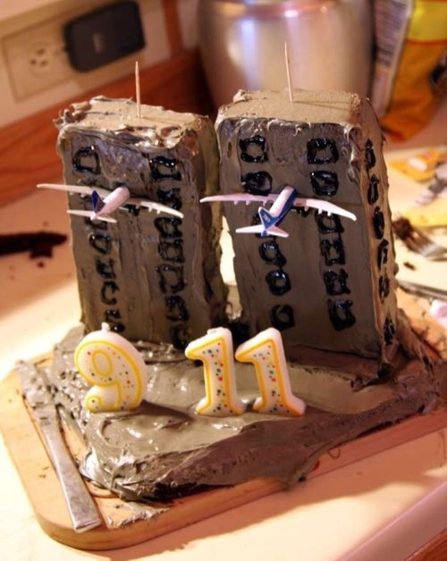 Twin Towers Cake Wedding