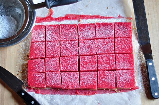 Cranberry Curd Bars With Walnut Shortbread Crust Recipe — Dishmaps