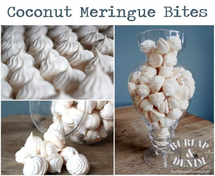 Chewy Coconut Meringue Bites | Christmas Food and Goodies | Pinterest