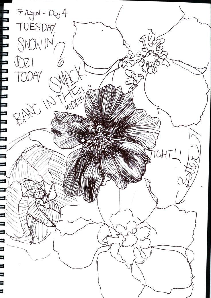 Continuous Line Drawing Of A Flower : Pin by hrönn traustadóttir on art journal moleskin pinterest