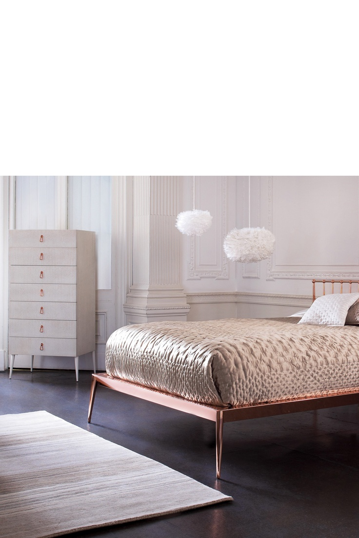 Heal 39 s white rose gold bedroom home pinterest for Bedroom ideas rose gold