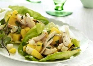 Mango Chicken Lettuce Wraps | chick flicks for me | Pinterest