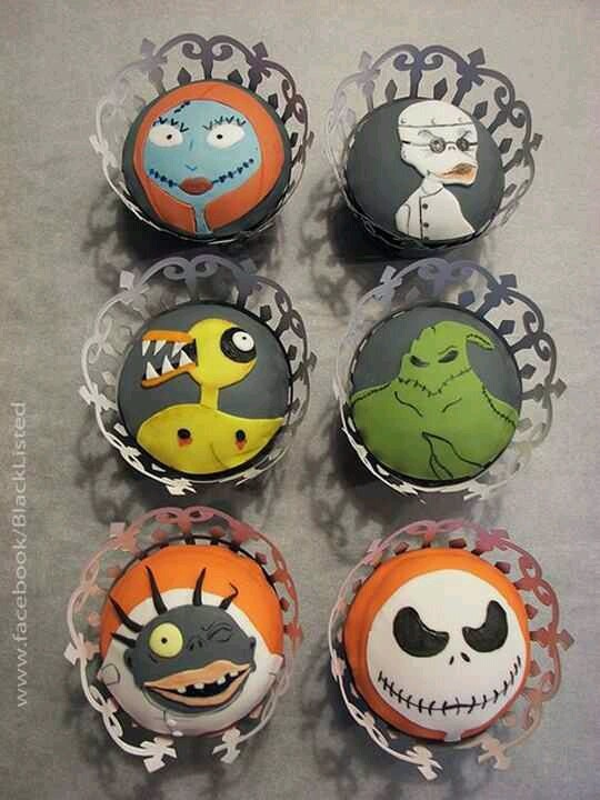 Nightmare before Christmas cupcakes | Cupcakes/Cakes/Desserts | Pinte ...