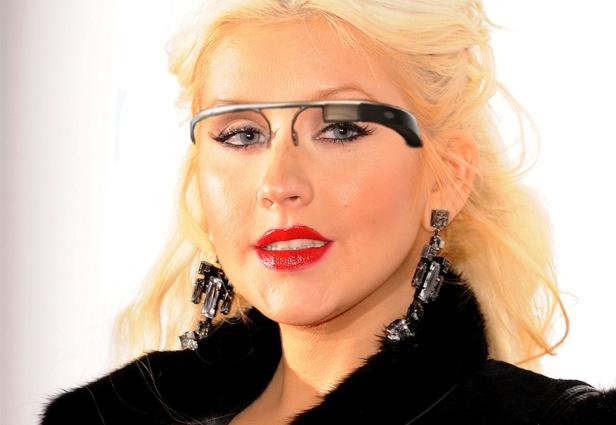 Google Glasses on Famous Faces [PICS] Christina Aguilera Google