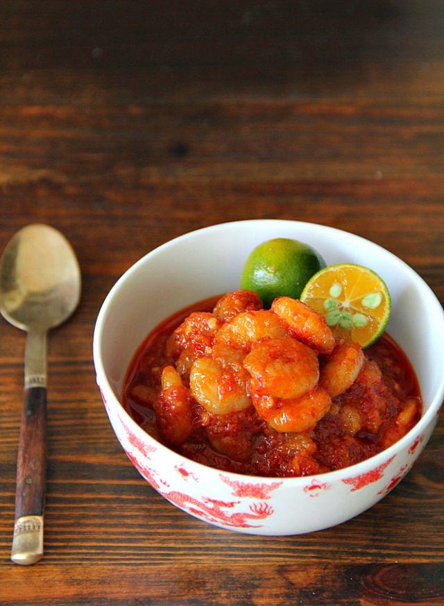 singapore shiok!: sambal udang (prawn sambal)