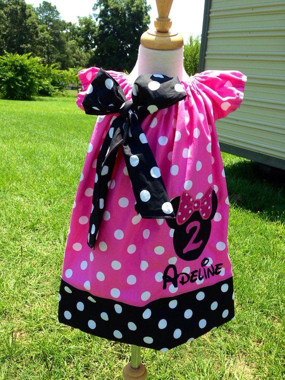 Minnie mouse birthday peasant dress custom by sassybritchesbowtiqu