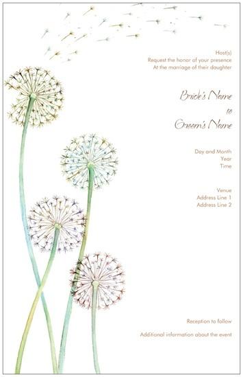 dandelion wedding invitation just b c i love everything about weddi